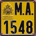 San Marino agricultural vehicle plate.jpg