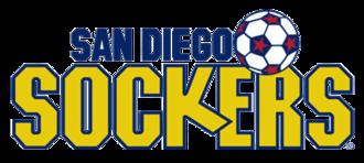 San Diego Sockers (1978–96) - Version of the Sockers logo, used until 1984.