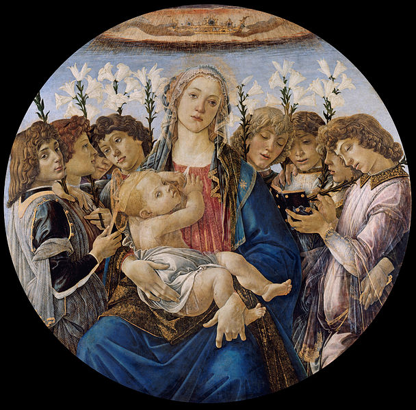 File:Sandro Botticelli - Mary with the Child and Singing Angels - Google Art Project.jpg