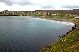 Sandur, Faroe Islands - Image: Sandur, sandsvagur beach