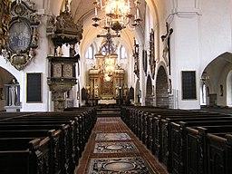 Sankta Maria kyrka, interiör.