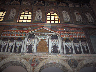 Palace of Theoderic - Another view of the mosaic in San Apollinare Nuovo in Ravenna.