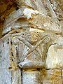 Santeuil (95), église Saint-Pierre-et-Saint-Paul, chœur, niche côté sud, chapiteau.JPG