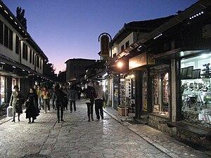 Sarajevo-bascarsija at night1