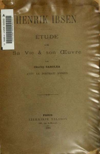 File:Sarolea - Henrik Ibsen, 1891.djvu