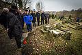 Sarre-Union mémorial Shoah après profanation cimetière juif 16 février 2015.jpg
