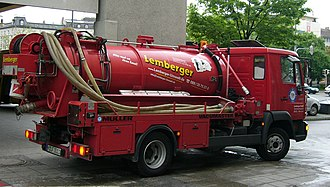 Gully emptier - Gully emptier in Germany