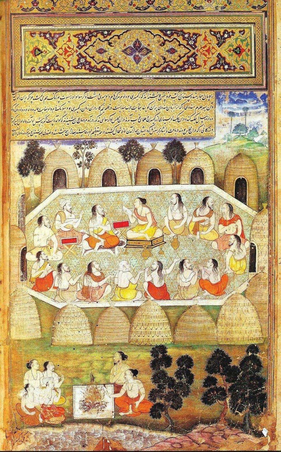 Sauti recites the slokas of the Mahabharata