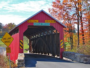 Saville Covered Bridge in Saville Township