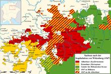 Gebietsänderungen im Zuge der Wittenberger Kapitulation von 1547 (Quelle: Wikimedia)