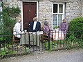 Scarecrows outside Cliffe Cottage - geograph.org.uk - 453680.jpg