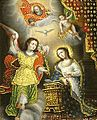 Scene from the Life of Mary, anonymous 18th century, Convento de Santo Domingo del Cusco.JPG