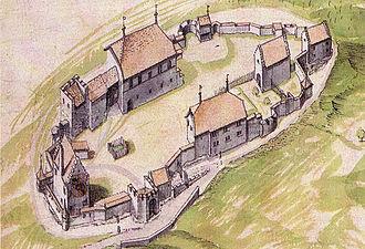 Counts of Lenzburg - Lenzburg Castle in 1624