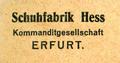 Schuhfabrik hess erfurt 1924.png