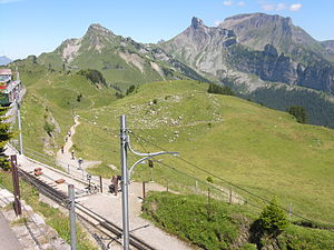 Schynige Platte - Schynige Platte view (the railway station is visible)