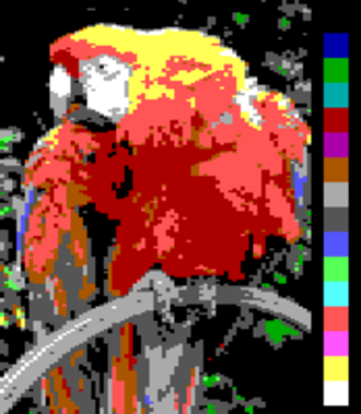 Tandy Graphics Adapter - Image: Screen color test P Cjr 16colors 160x 200