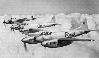 De Havilland Hornet - de Havilland Sea Hornet F.20s of No.728 Fleet Requirements Unit, Hal Far, Malta.