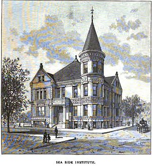 Welfare capitalism - The Seaside Institute, designed by Warren R. Briggs in 1887 for the benefit of the female employees of the Warner Brothers Corset Company