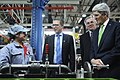 Secretary Kerry Chats With Worker on Engine Assembly Line (12538366364).jpg