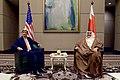 Secretary Kerry Sits With Bahraini Foreign Minister Sheikh Khalid bin Ahmed al-Khalifa (26286885435).jpg