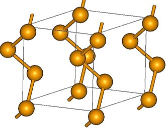 Inorganic polymer - The gray allotrope of selenium consists of helical chains of Se atoms.