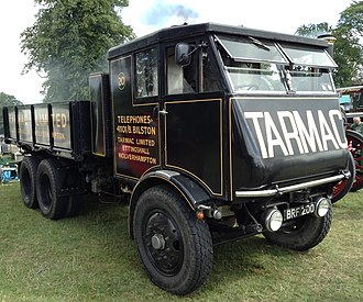 Tarmac Group - A Sentinel steam lorry in Tarmac livery (Sentinels were used extensively in the 1920s)