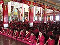 Sera Mey monks in the main temple.jpg