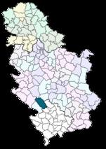 Location of Novi Pazar within Serbia