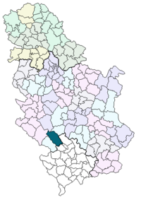 Location of the municipality of Novi Pazar within Serbia