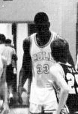 Shaquille O'Neal - O'Neal playing for the Cole High School varsity basketball team in 1988–89.