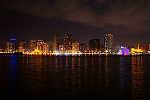 Sharjah - Panoramic view of Sharjah.