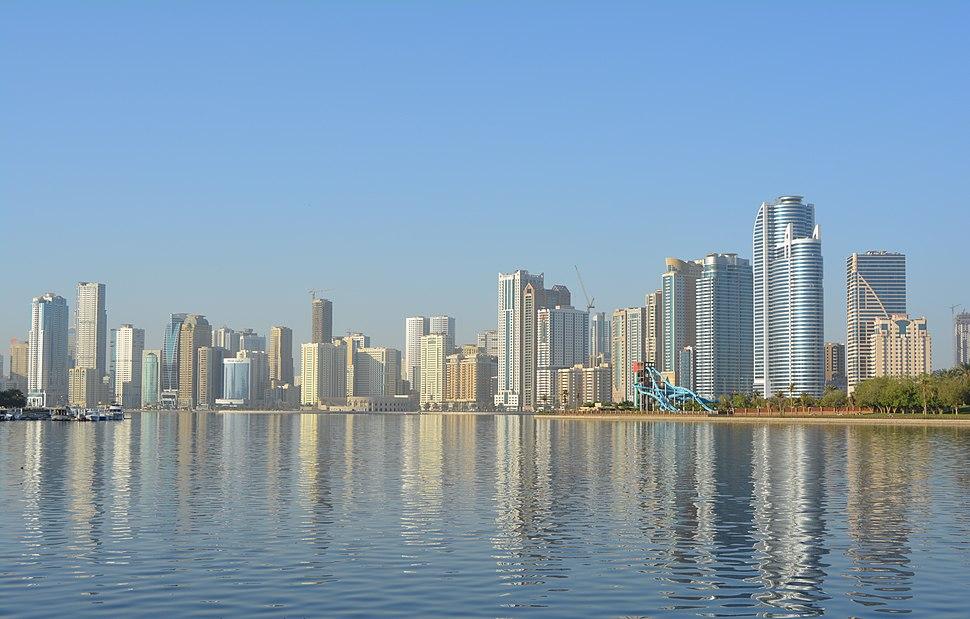 Sharjah city skyline in 2015