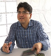 Award-winning Spokane / Coeur d'Alene author, film director, and social critic, Sherman Alexie.