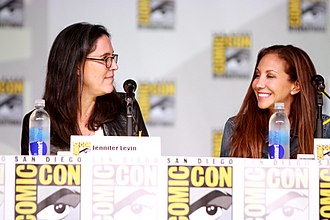 Beauty & the Beast (2012 TV series) - Jennifer Levin and Sherri Cooper-Landsman promoting the show at Comic-Con