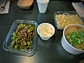 Shishito peppers and anchovies, daikon pickles, fish cake soup.jpg