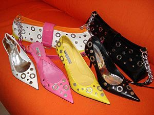 A set of SHY shoes and handbags from the Sprin...