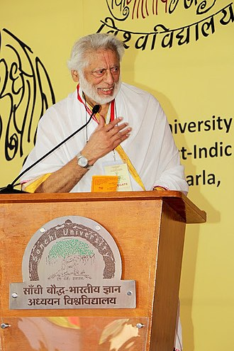 Shyam Manohar Goswami - Shyam Manohar Goswami giving lecture at the Indian philosophical congress, Sanchi University of Buddhist-Indic Studies - 2017