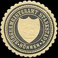 Siegelmarke Bürgermeisteramt Starkstadt-Böhmen W0320489.jpg