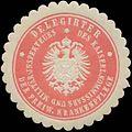 Siegelmarke Delegirter des K. Kommissars und Militär-Inspekteurs der freiw. Krankenpflege W0361569.jpg