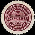 Siegelmarke Gemeinde-Vorstehung Hohenweiler - Vorarlberg W0261650.jpg