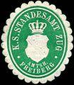 Siegelmarke Königlich Sächsisches Standesamt Zug - Amtshauptmannschaft Freiberg W0252860.jpg