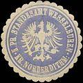 Siegelmarke K.Pr. Standesamt Wesselburen Kreis Norderdithmarschen W0338134.jpg