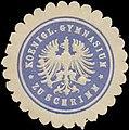 Siegelmarke K. Gymnasium zu Schrimm W0345715.jpg