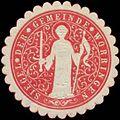 Siegelmarke Siegel der Gemeinde Worringen W0327895.jpg