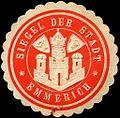 Siegelmarke Siegel der Stadt - Emmerich W0219111.jpg
