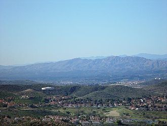 Simi Valley, California - Simi Valley Scenic, 2007, with the Topatopa Mountains in background.