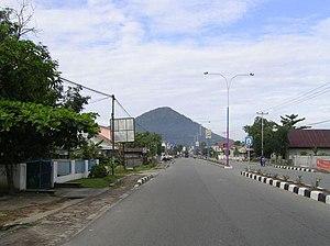 Singkawang - One of the main roads in Singkawang, Jalan P. Diponegoro