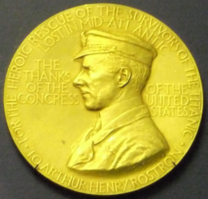 Sir Arthur Henry Rostron Congressional Gold Medal, Merseyside Maritime Museum.png