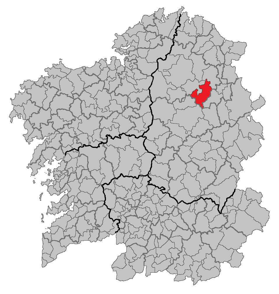 Localização de Castro de Rei na Galiza