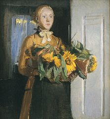 "Sketch for ""The Girl with the Sunflowers"""